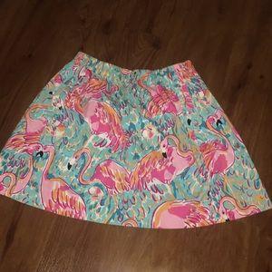 Euc peel and eat skirt m Lilly pulitzer flamingo